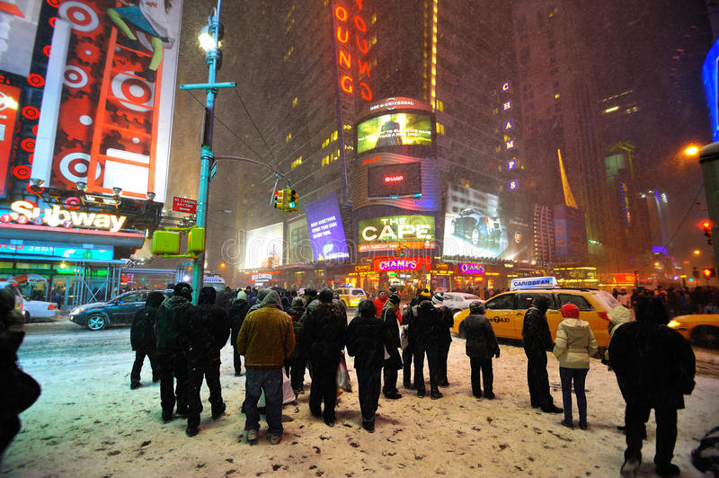 Download 42 Street In The Snow Storm, New York City Editorial Photo - Image: 17571296