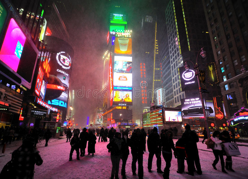 Download 42 Street Under The Snow Editorial Stock Photo - Image: 17571318