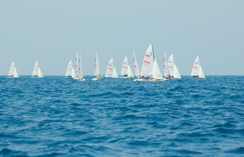 420 2010年冠军国际字游艇 库存图片