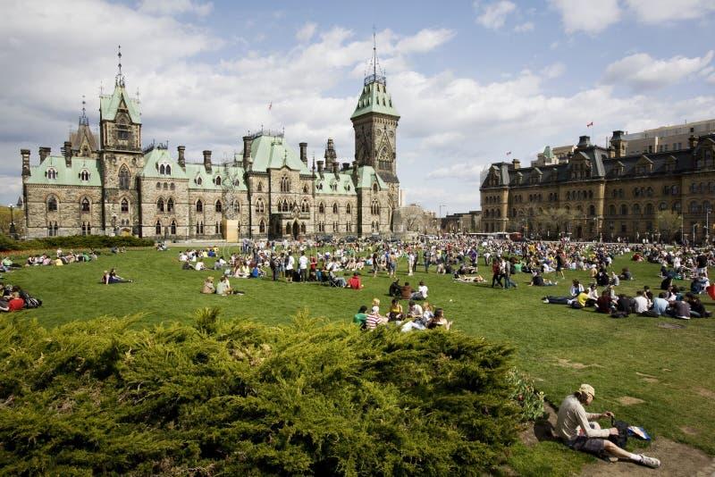 420 Parliament Hill - Marijuana Activists royalty free stock photos