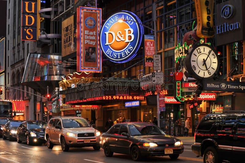 42nd nya gata york royaltyfri fotografi