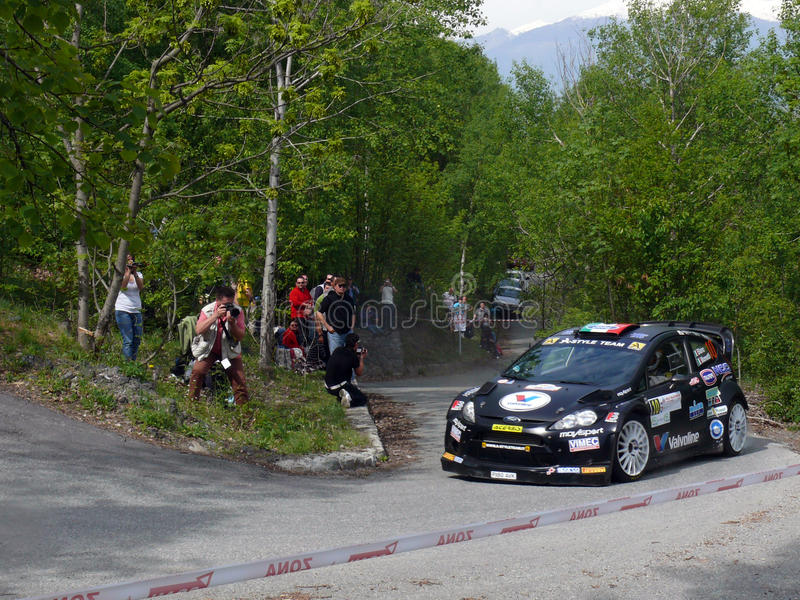 42nd Rally of Aosta Valley stock image