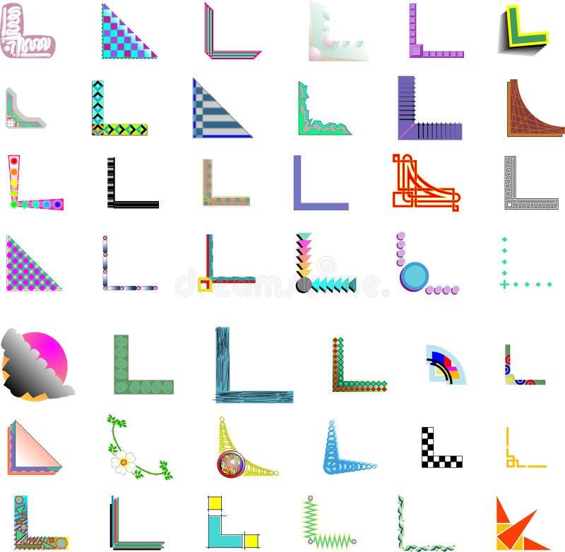 42x Vector Corner/Border Designs stock images