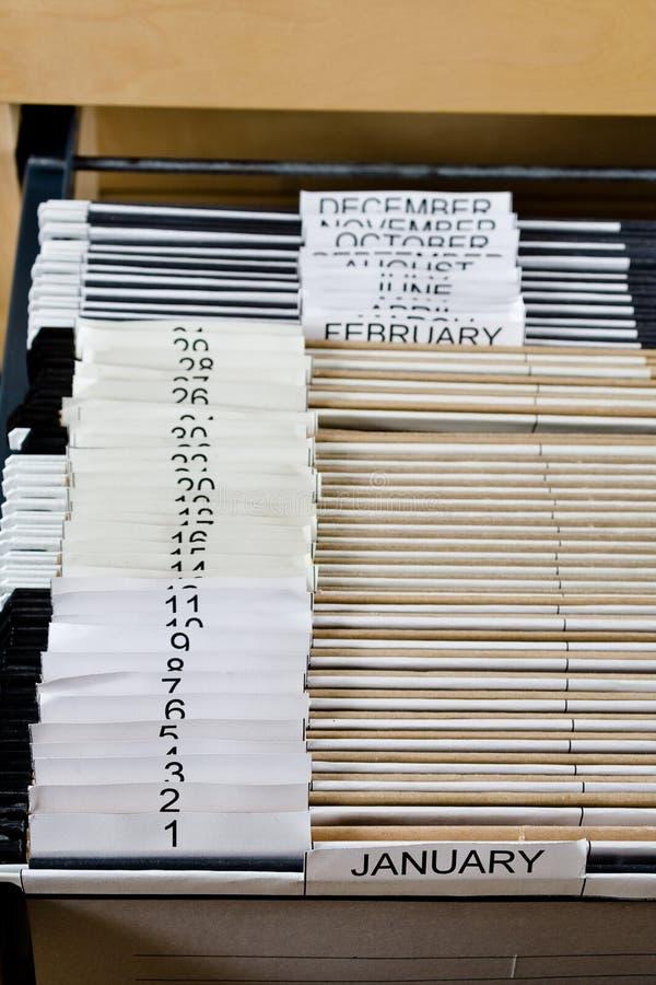 43个机柜文件夹 免版税库存照片