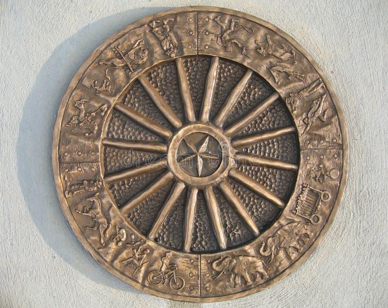 4394-Metal-Circus-Emblem imagenes de archivo