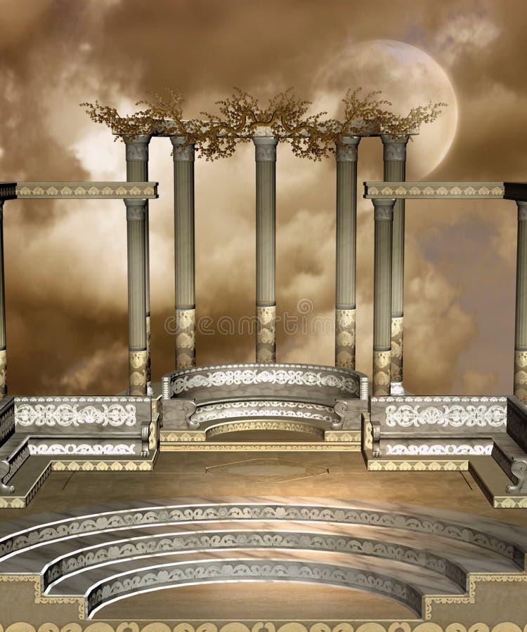 44 fantazj sceneria royalty ilustracja
