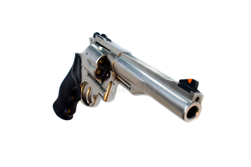 44 magnum revolver isolated wide angle view royalty free stock photo
