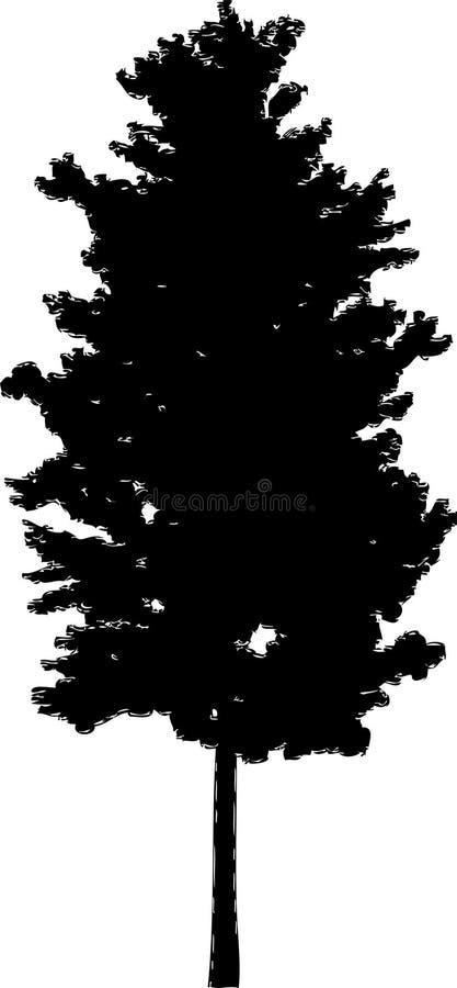 45查出的剪影结构树 皇族释放例证