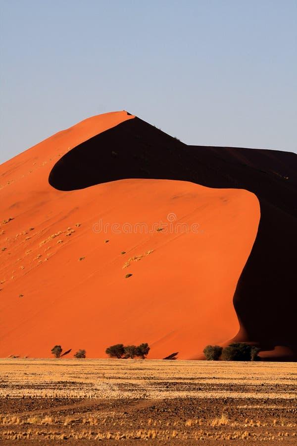45沙丘在日出的纳米比亚 库存照片