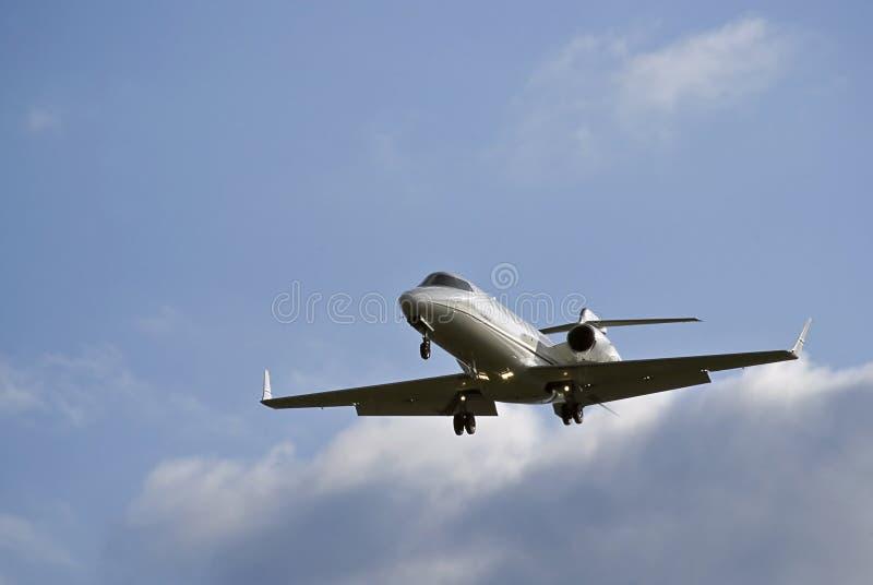 45航空航天投炸弹者企业喷气机learjet 库存图片