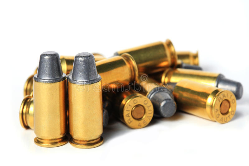 Download .45 ACP bullet. stock photo. Image of ammo, round, bullet - 25923878