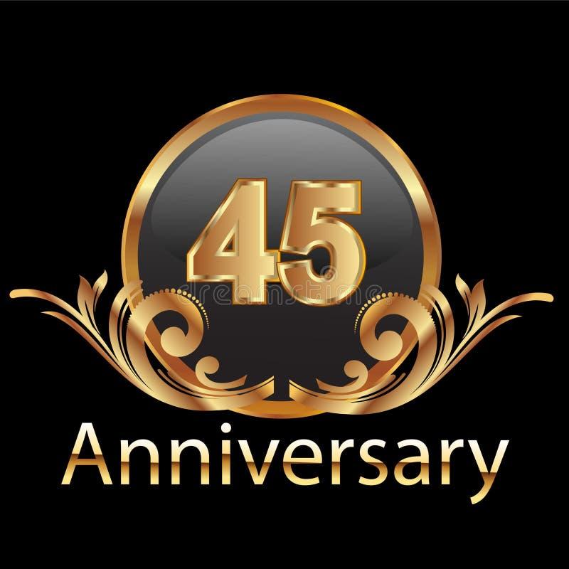Download 45 Anniversary Happy Birthday Stock Illustration - Image: 23372028