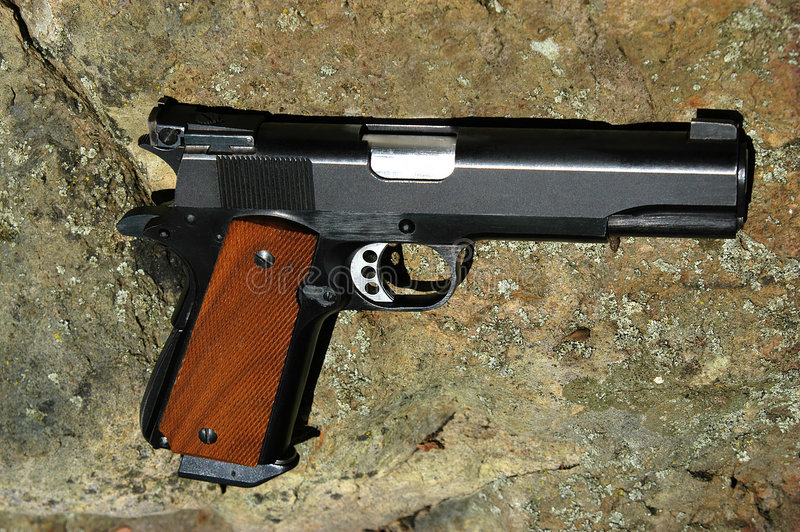 45 Cal手枪 库存图片