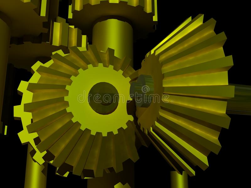Download 45 degree gears stock illustration. Image of machine - 11066043