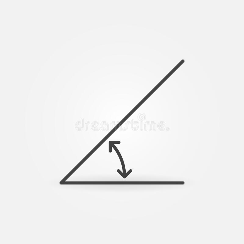 Free 45 Degrees Angle Linear Vector Concept Icon Or Sign Royalty Free Stock Images - 180293499