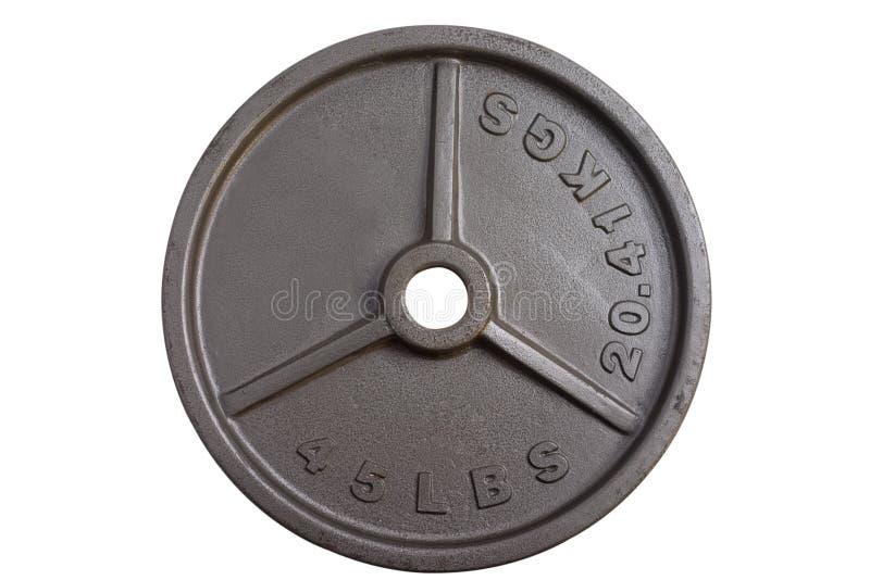 45 livres de poids de barbell photos stock