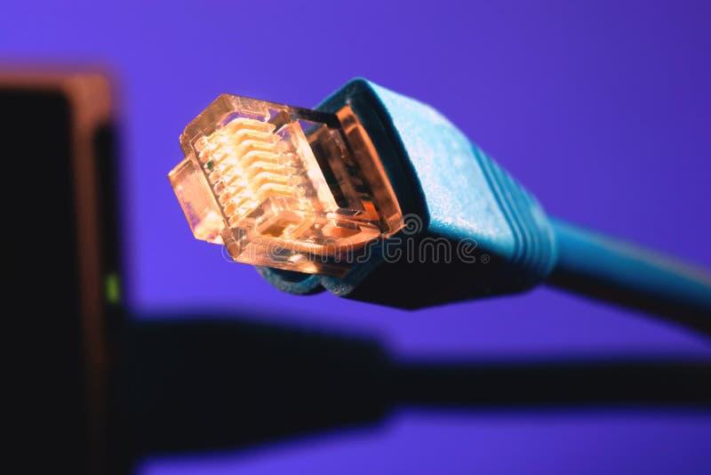 45 rj cable obrazy stock