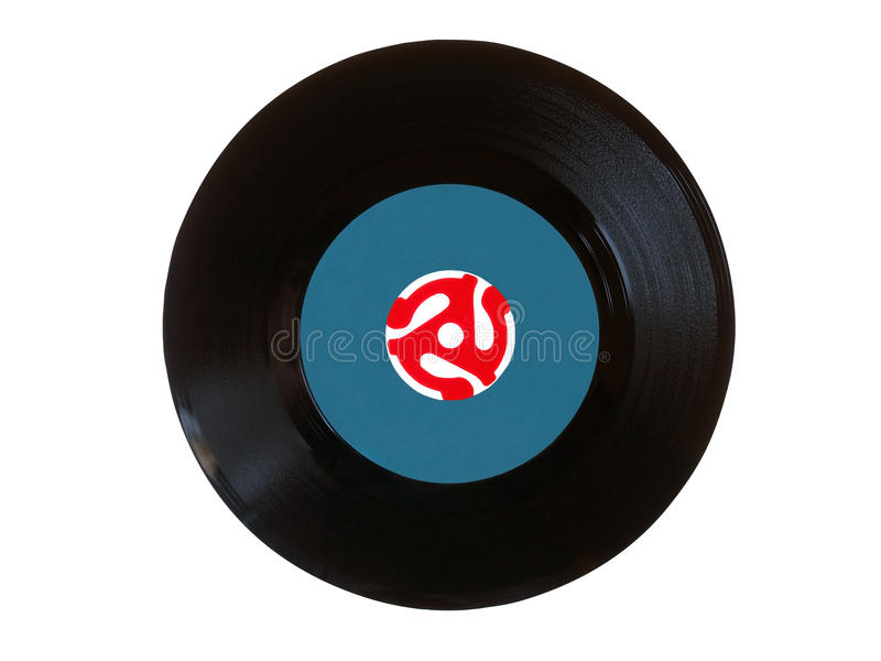 45 vinyl för disk r/min. royaltyfri foto