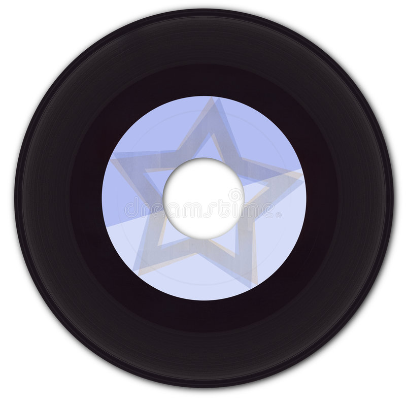 Download 45rpm Vinyl Record With Fake Label Stock Image - Image: 723715