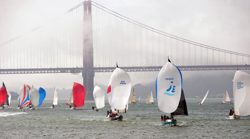The 45th Rolex Big Boat Series, yacht racing. stock photography