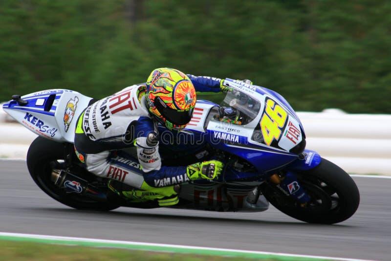 46 Valentino Rossi - personas de Autorización Yamaha imagenes de archivo