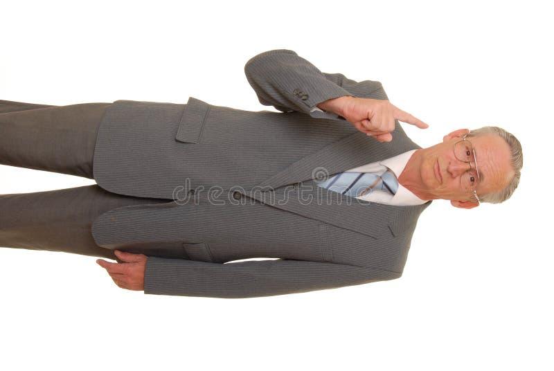 47个生意人前辈 免版税库存照片