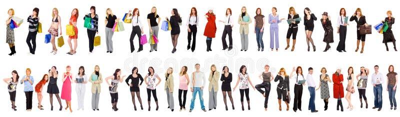 47 povos separados fotografia de stock royalty free