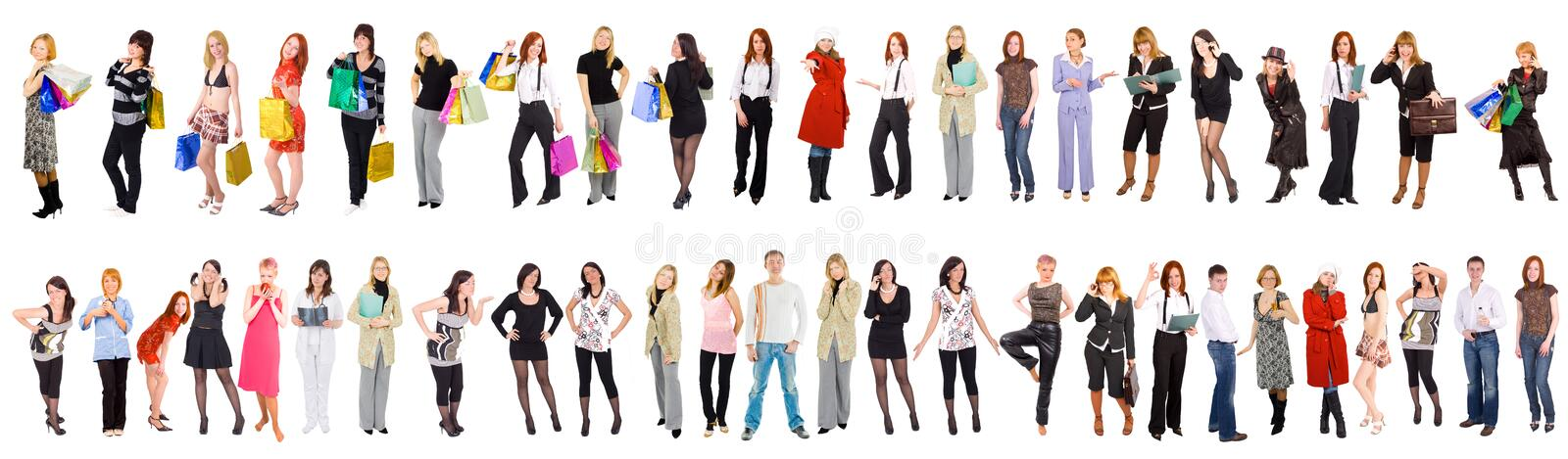 47 separate people royalty free stock photography
