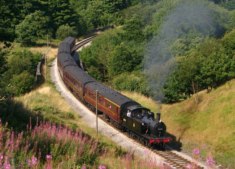47279条英国活动铁路蒸汽 免版税库存图片