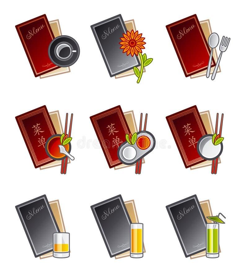 47b projektowania elementów menu ikon zestaw royalty ilustracja