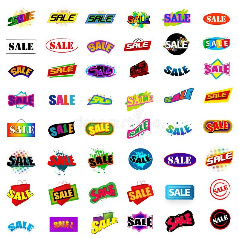 48个销售额样式 向量例证