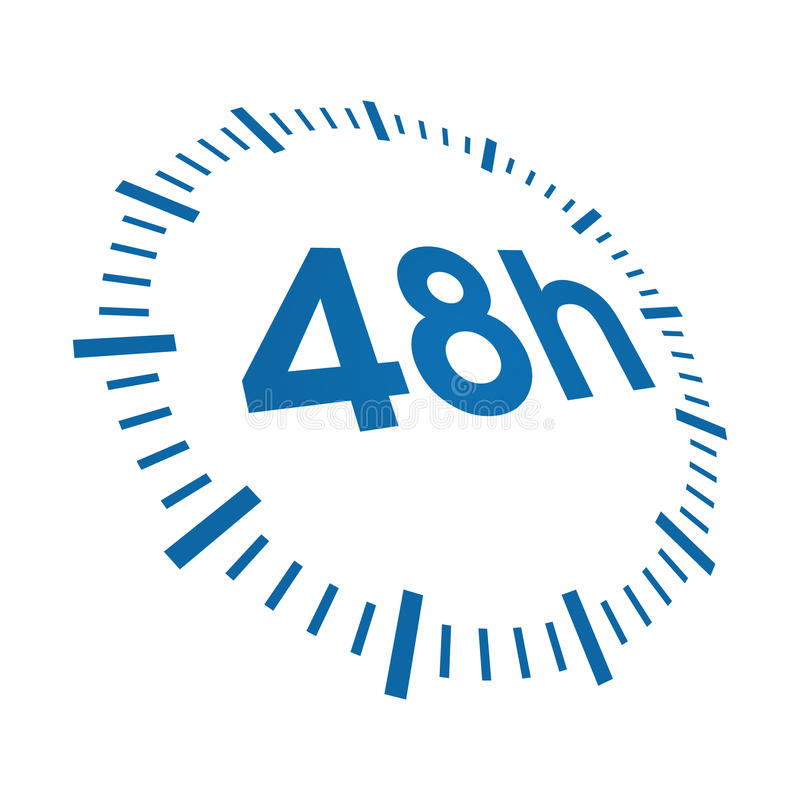 48 hours delivery royalty free illustration