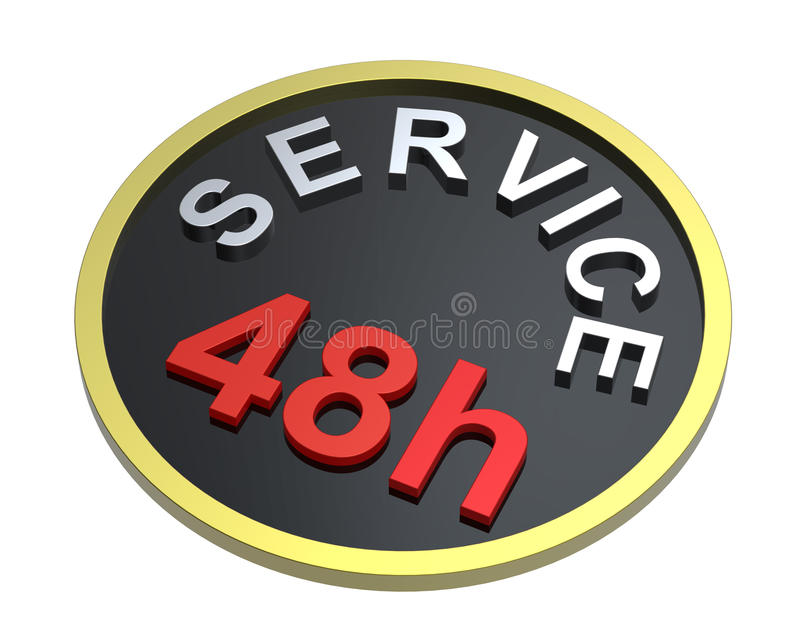 Download 48 hours service sign stock illustration. Image of courier - 16193839