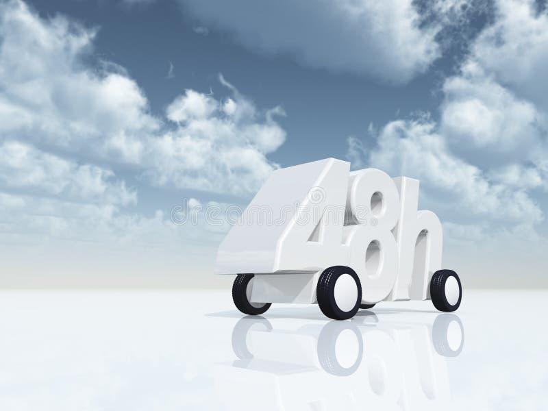 48h op wielen vector illustratie