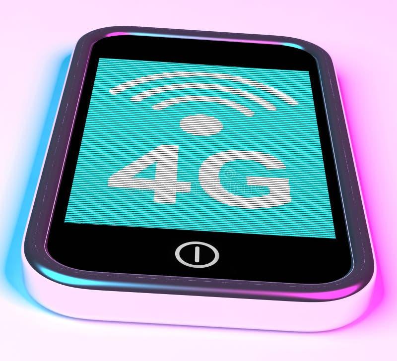 4g de Aansluting van Internet op Mobiele Telefoon stock illustratie