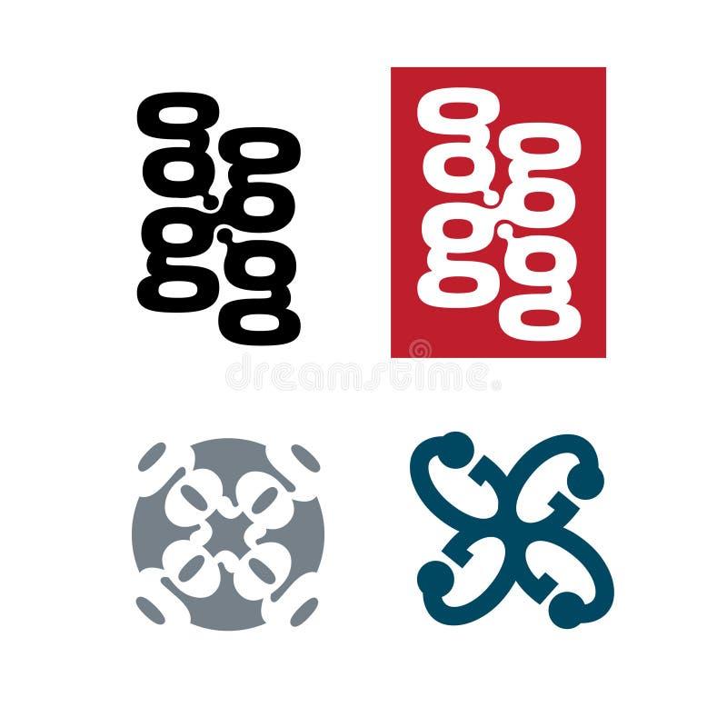 4g embleempictogram stock illustratie