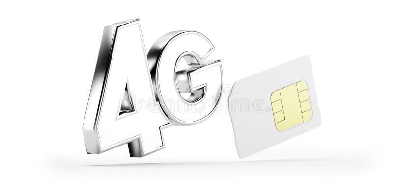 Download 4G SIM card stock illustration. Image of micro, generation - 27625313