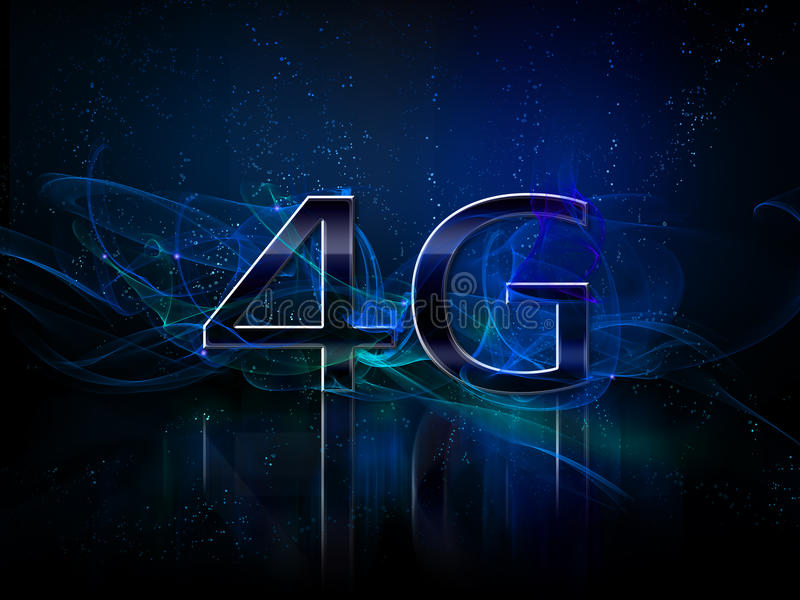 4g smartphone display vector illustration