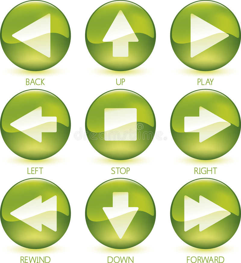 4of4图标媒体被设置的向量 皇族释放例证