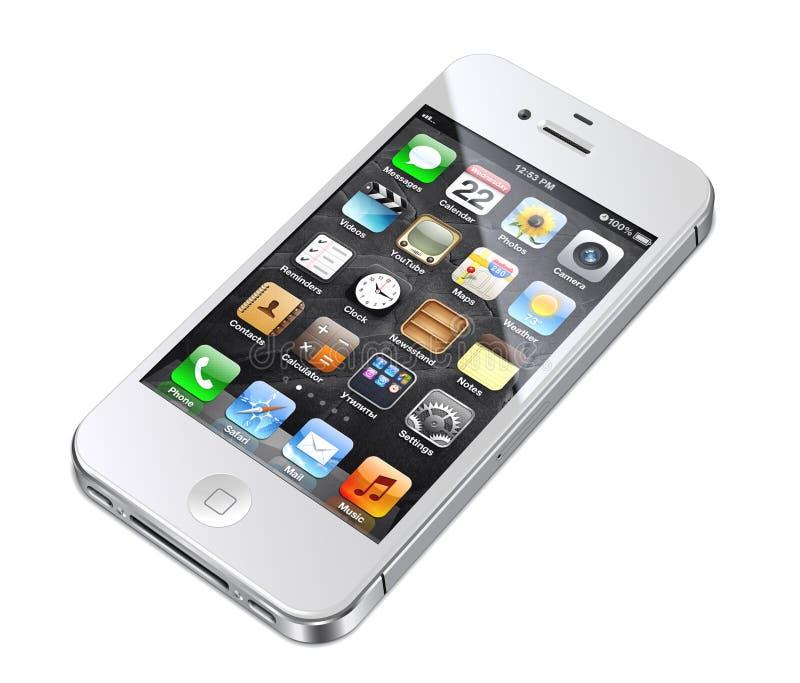 4s苹果iphone白色 皇族释放例证