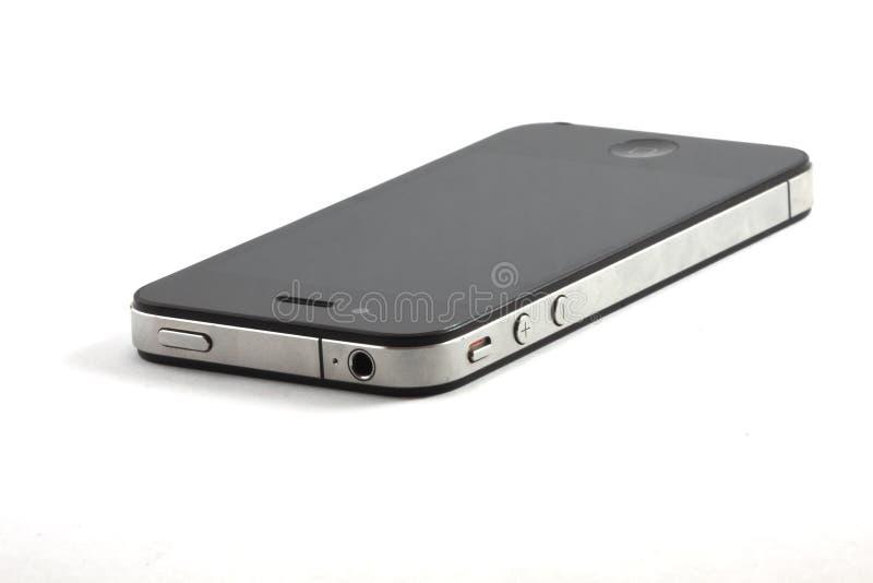 4s czarny iphone fotografia stock