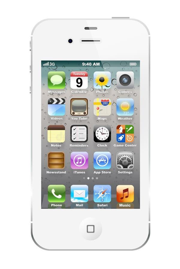 4s iphone白色 库存照片