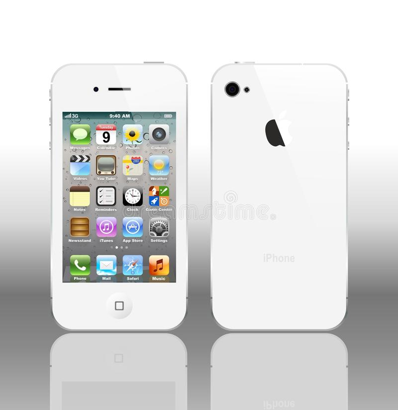4s iphone白色 库存例证