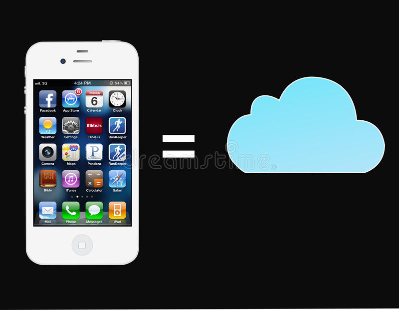 4s iphone 皇族释放例证