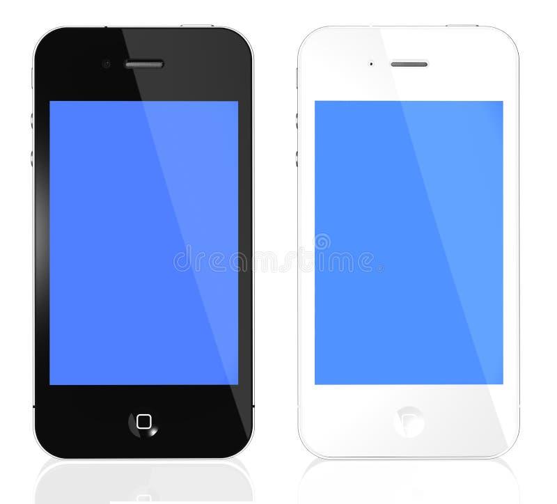 4s iphone czarny biel royalty ilustracja