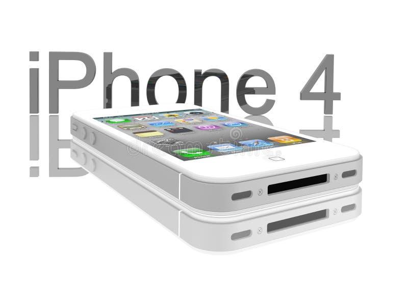 4s iphone jabłczany biel ilustracja wektor