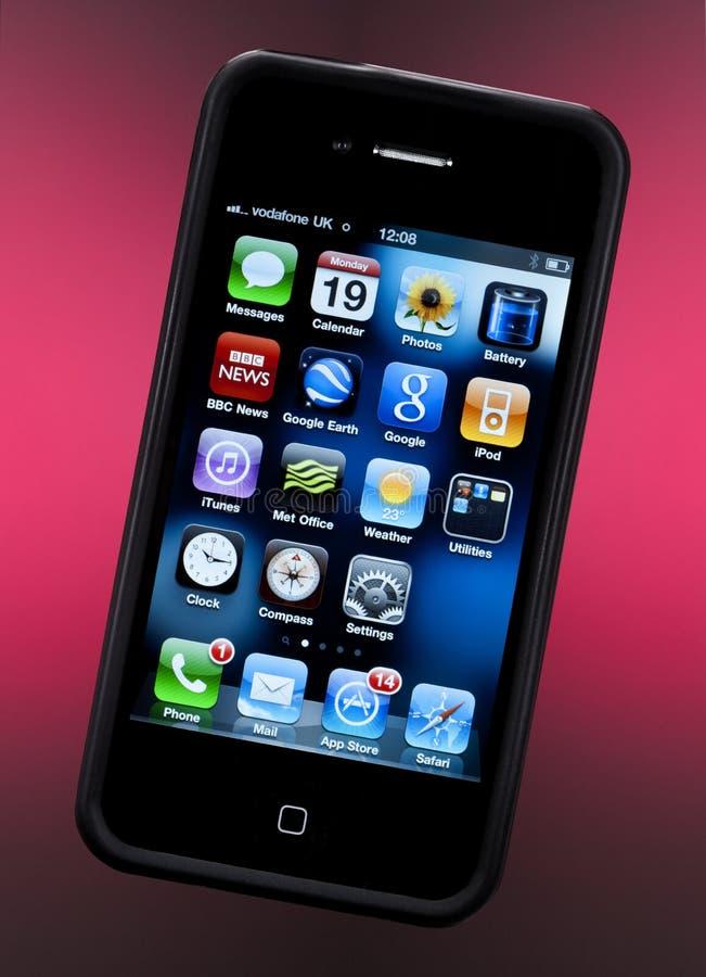 4s iphone jabłczany smartphone obrazy stock