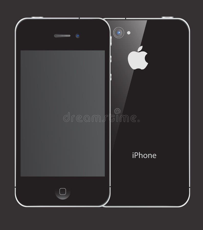4s jabłka iphone ilustracji