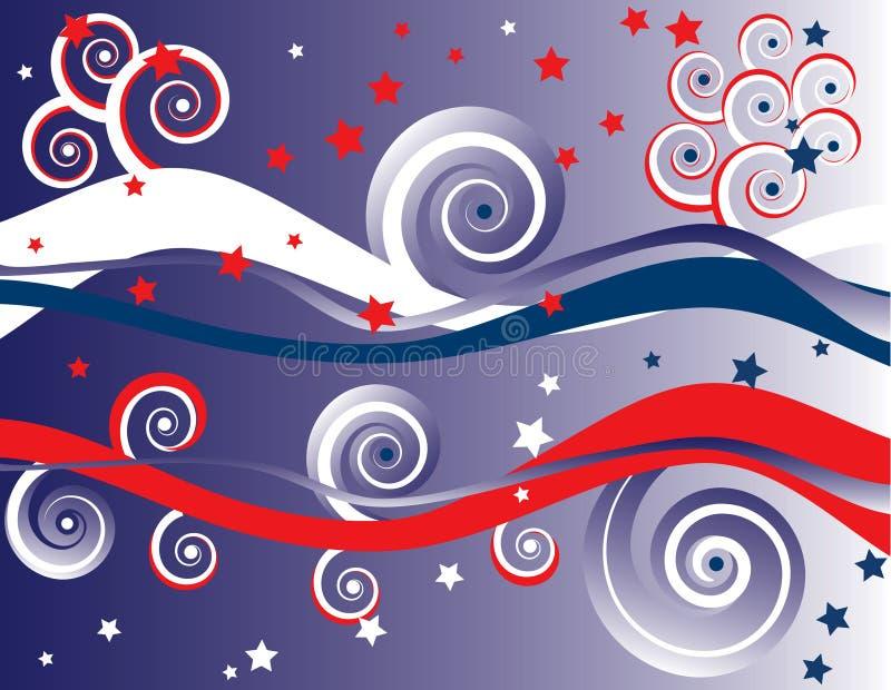 4th abstrakt bakgrund juli stock illustrationer