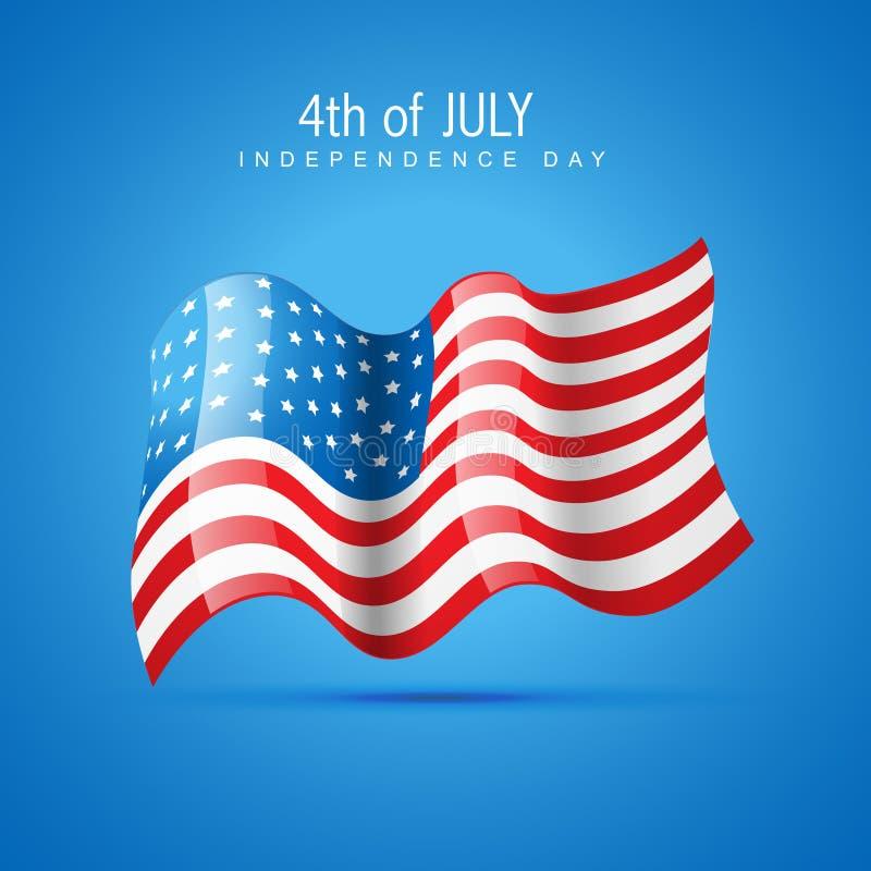 4th dagsjälvständighet juli vektor illustrationer